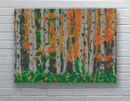 Birch Trees in Autumn-Landscapes and Seascapes