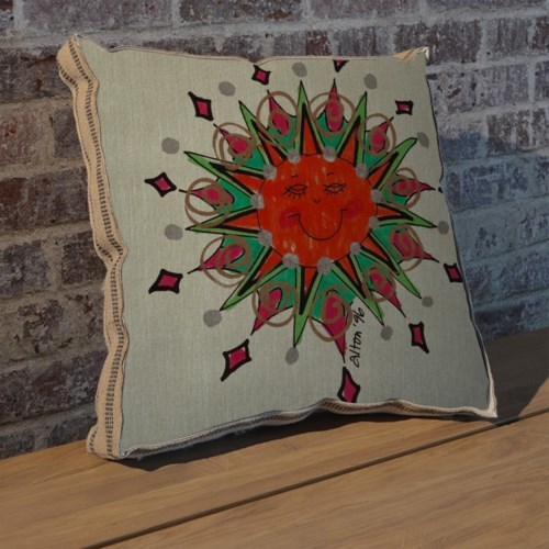 Alton Green Sun pillow-Decorative Elements