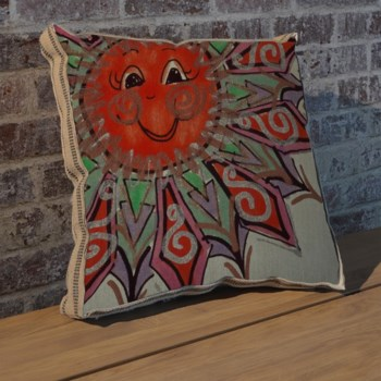 Alton Sun Left pillow-Decorative Elements