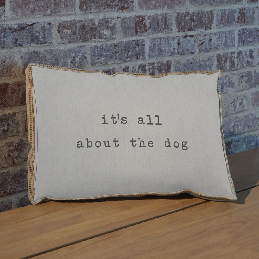 It's all about the dog pillow