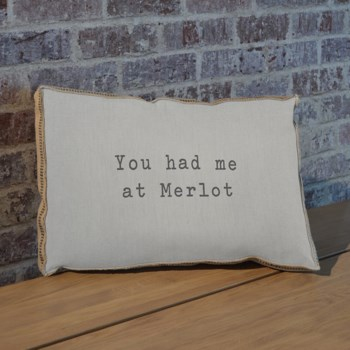 You had me at merlot pillow-Inspiration and Holiday