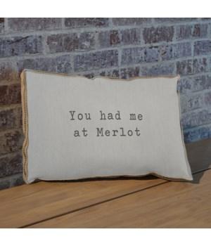 You had me at merlot pillow
