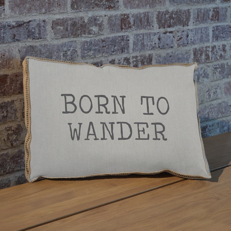 Born to wander pillow