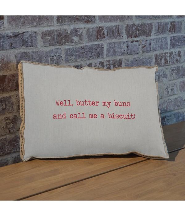 Butter my buns pillow