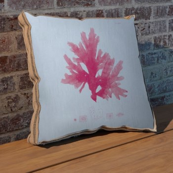 Sea Fan pink pillow-Coastal and Tropical