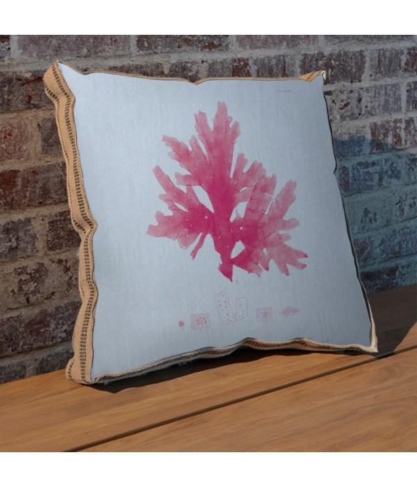 Sea Fan pink pillow