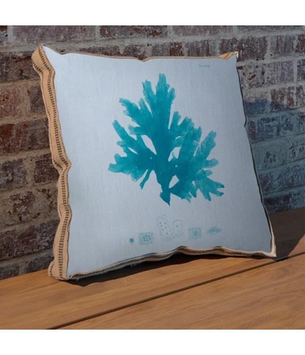 Sea Fan teal pillow