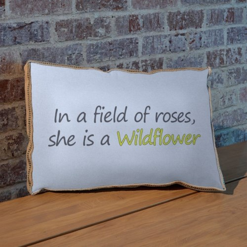 In a field of roses pillow