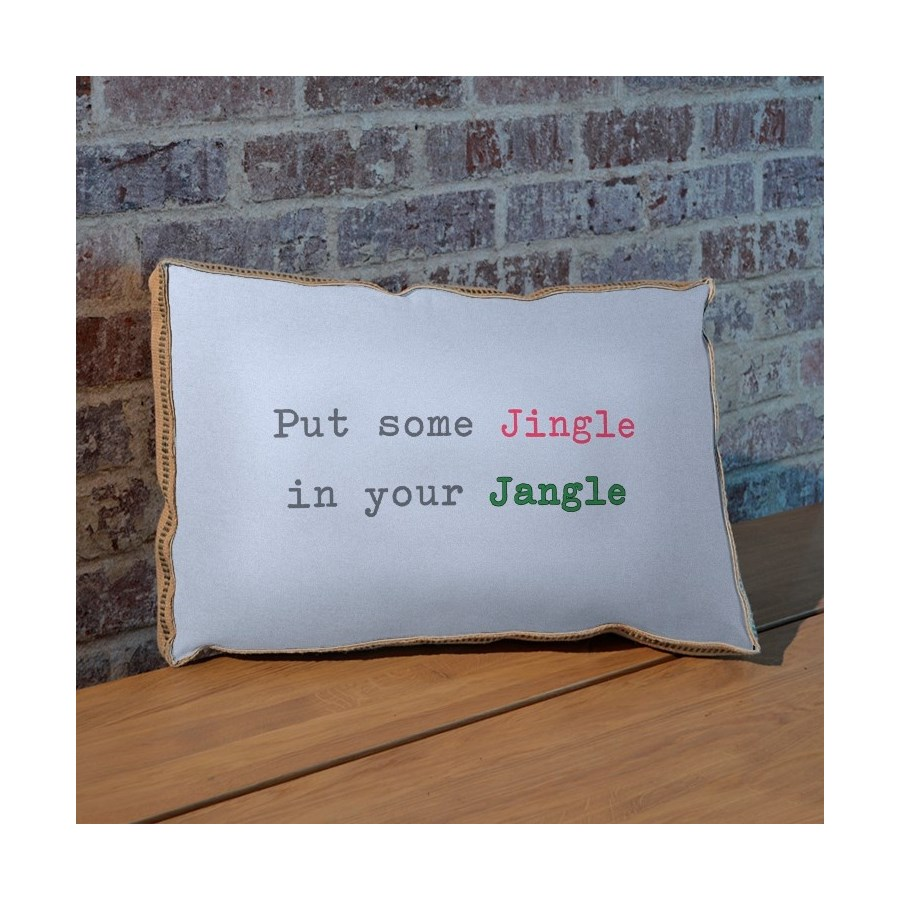 Put a little jingle in your jangle pillow