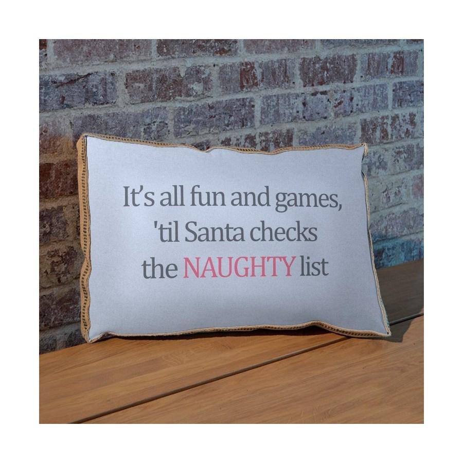 Naughty List pillow