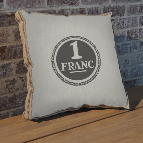 1 Franc pillow-Inspiration and Holiday