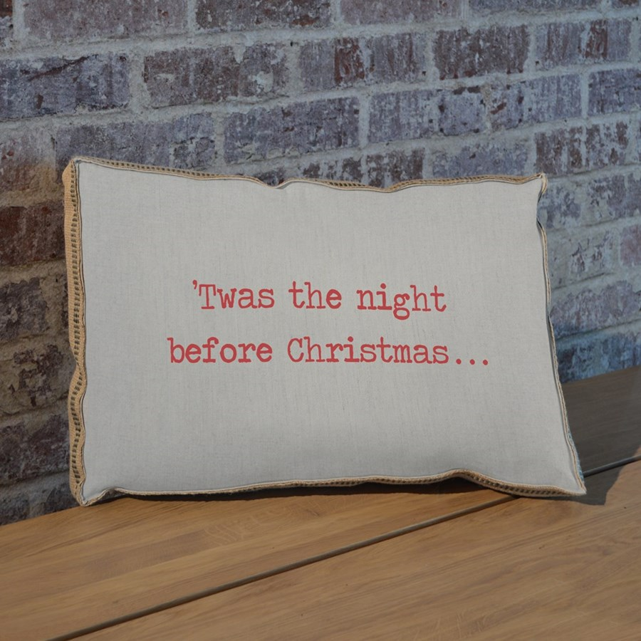 Twas the night before Christmas pillow
