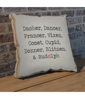 Dasher Dancer pillow