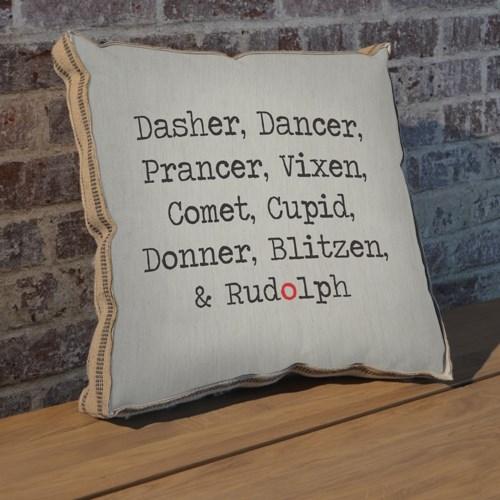 Dasher Dancer pillow