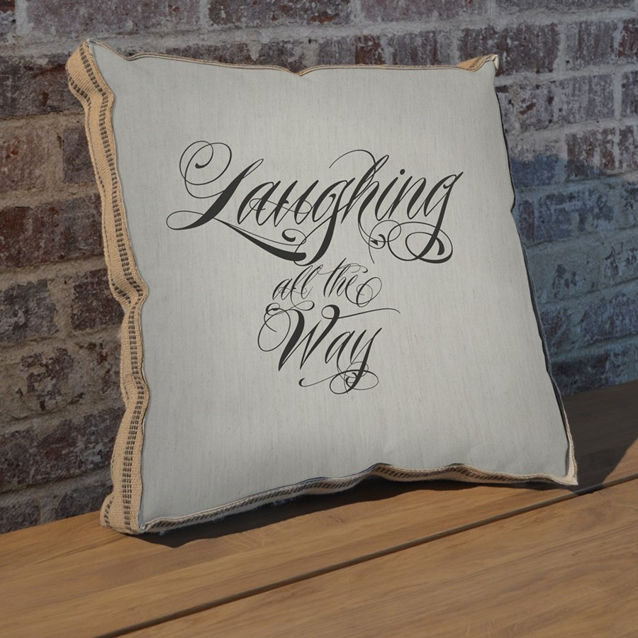Laughing all the way pillow