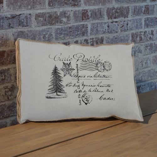 Christmas Tree Postcard pillow