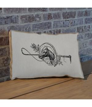 Horseshoe and Mistletoe pillow