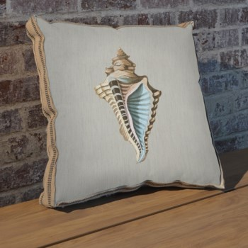 Shell A pillow-Coastal and Tropical
