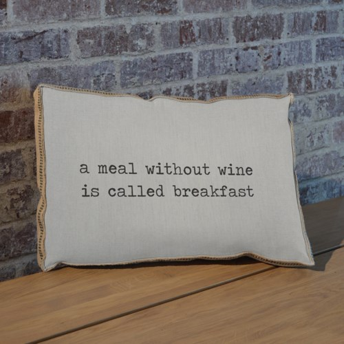 A meal without wine pillow-Inspiration and Holiday