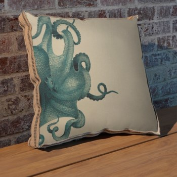 Octopus study coral pillow-Coastal and Tropical