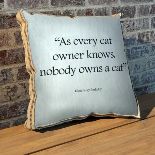 As every cat owner knows pillow-Inspiration and Holiday