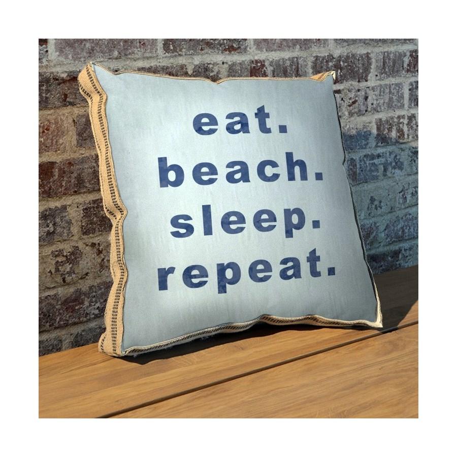Eat beach sleep repeat pillow