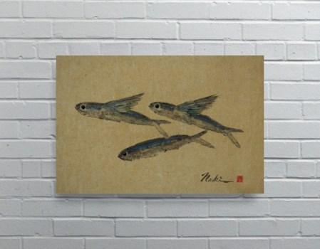 1908 - Naoki Art Collection Hemp Panel-Animals and Nature