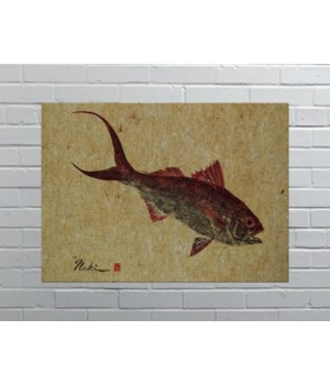 2682-Naoki Art Collection Hemp Panel -Animals and Nature