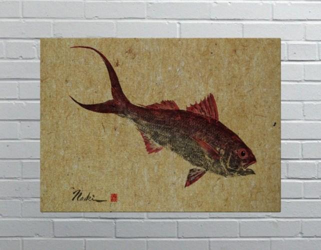 2682-Naoki Art Collection Hemp Panel -Animals and Nature