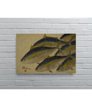 2767 -Naoki Art Collection Hemp Panel-Animals and Nature
