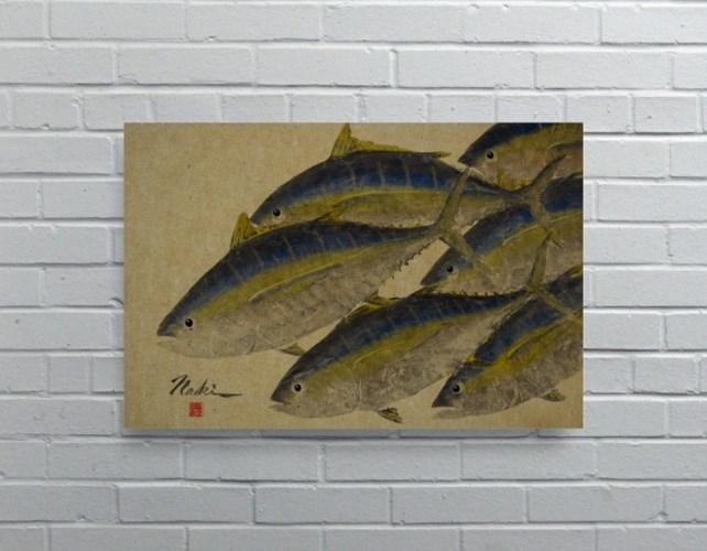 2767 -Naoki Art Collection Hemp Panel-Animals and Nature