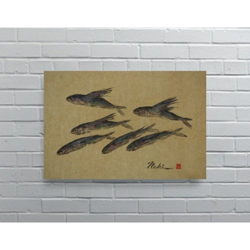 3052 -Naoki Art Collection Hemp Panel-Animals and Nature