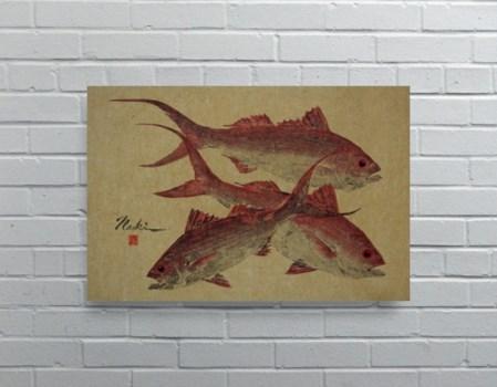 3062-Naoki Art Collection Hemp Panel-Animals and Nature