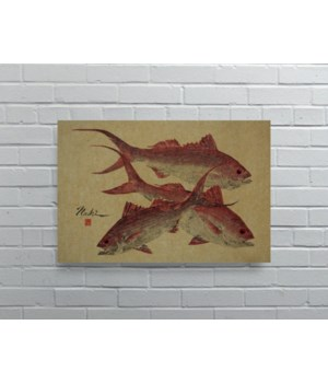 3062-Naoki Art Collection Hemp Panel-Animals and Nature