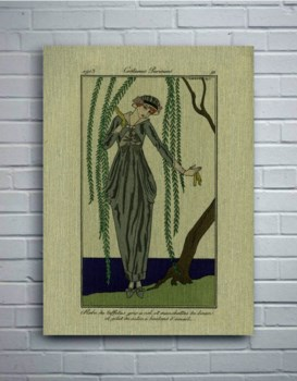 Woman and Willow-Fashion and Figurative