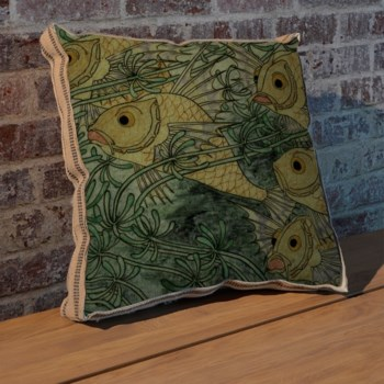 Gold Fish II pillow-Animals and Nature