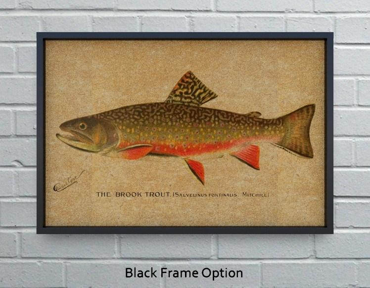 Brook Trout hemp art-Animals and Nature