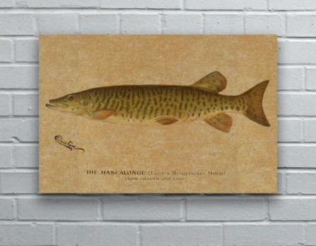 Mascalonge hemp art-Animals and Nature