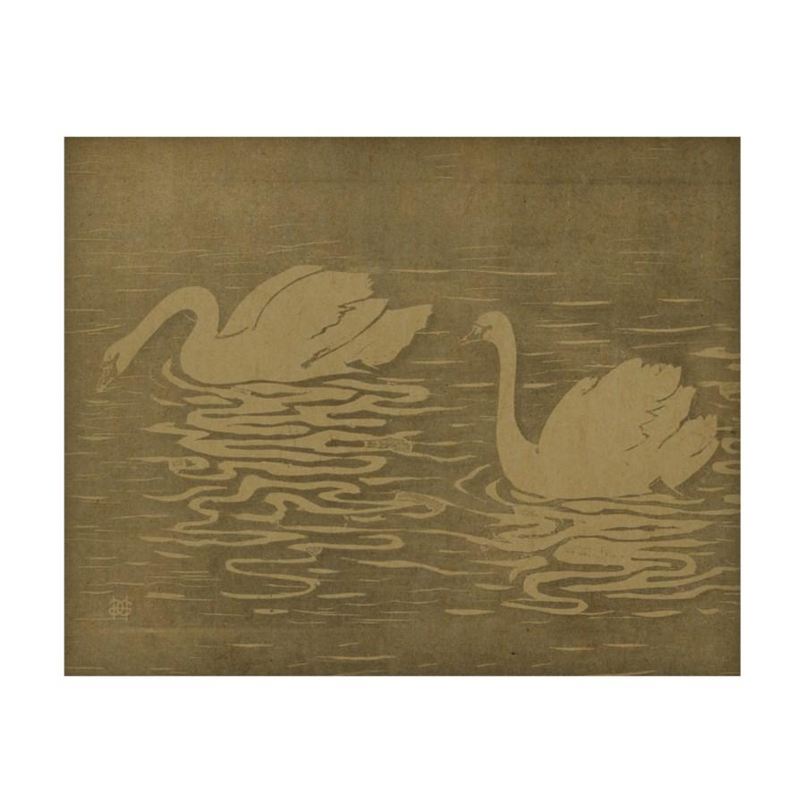 Swans In Lake hemp art