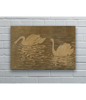 Swans In Lake hemp art