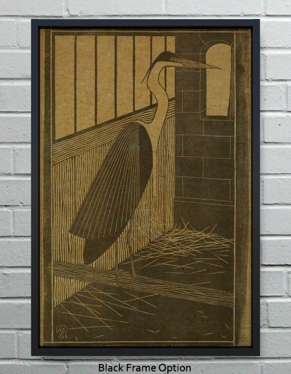 Heron hemp art-Animals and Nature