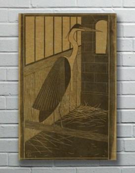 Heron hemp art-Animals and Nature