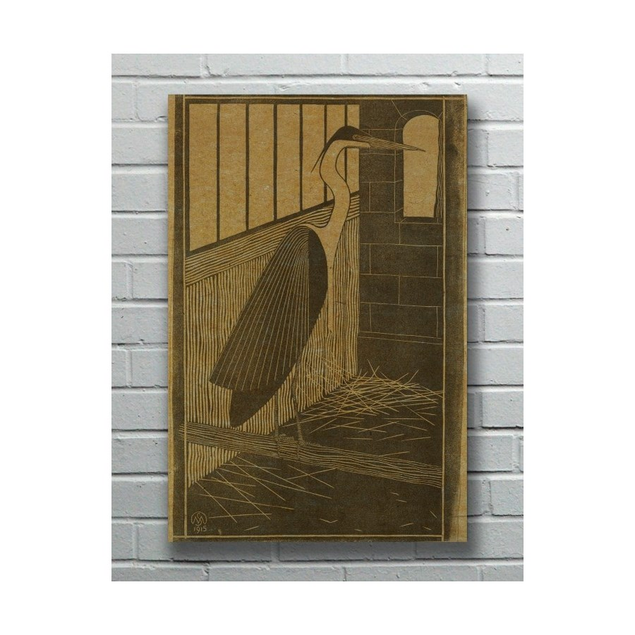 Heron hemp art
