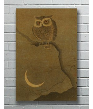 Goodnight Owl hemp art-Animals and Nature