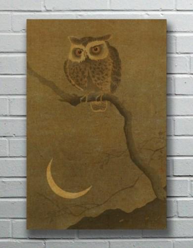 Goodnight Owl hemp art-Animals and Nature