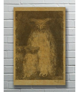 Three Owls hemp art