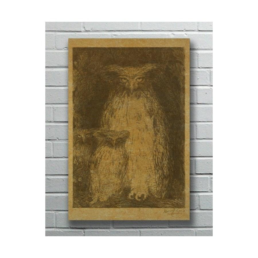 Three Owls hemp art