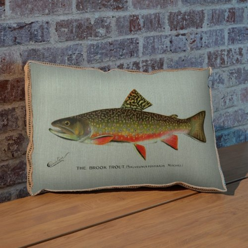 Brook Trout pillow-Animals and Nature