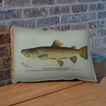 Brown Trout pillow-Animals and Nature