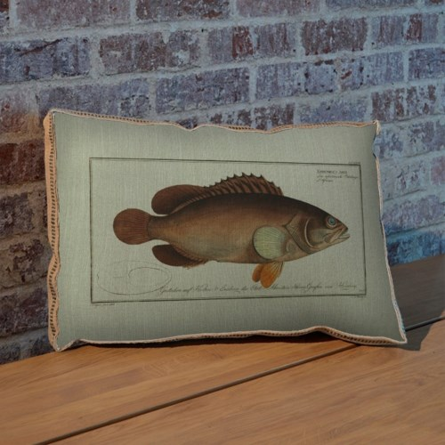 Black Grouper hemp art-Animals and Nature